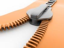 Orange zip rendered. On white background vector illustration