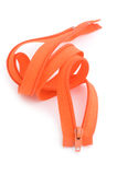 Orange zipper Royalty Free Stock Photo