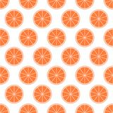 Orange Zitrusfruchthintergrund der frischen saftigen Tangerine des Schnittes schellt in der Reihe neben einander und abwechselnd  vektor abbildung