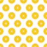 Orange Zitrusfruchthintergrund von neuen saftigen orange Ringen des Schnittes in der Reihe neben einander und abwechselnd unten D stock abbildung