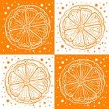 Orange zum orange Hintergrund stock abbildung