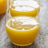 Orange zusammengedrückt Stockbild