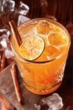 Orangeade avec de la glace et la cannelle photo libre de droits