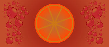 Orangeade. Background with orange and bubble Royalty Free Stock Images