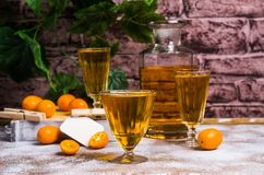 Orangeade transparente photographie stock libre de droits