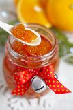 Orangeate Confiture stockfotos