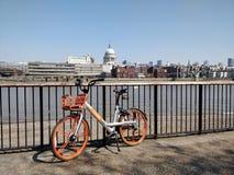 Orangebike royalty free stock photo