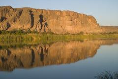 orangeflod för abiqua 3 Arkivfoton