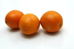 Orangen auf Weiß Lizenzfreies Stockfoto