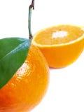 Orangen auf einem Weiß Stockfotos