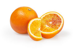 Orangen auf weißem Hintergrund Lizenzfreie Stockfotografie