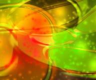 Orangen-blinkender abstrakter Hintergrund Stockfotos