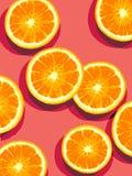 Orangen geschnitten zur Hälfte Lizenzfreies Stockbild