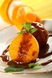 Orangen im Karamell Lizenzfreies Stockfoto