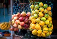 Orangen am indischen Markt Lizenzfreie Stockfotografie