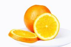 Orangen Querschnitts Stockfotos