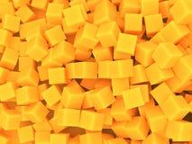 Orangen skära i tärningar bakgrund Arkivbilder