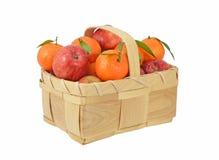 Orangen und Äpfel Lizenzfreies Stockbild