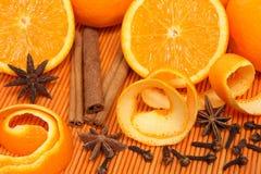 Orangen und Gewürze Lizenzfreie Stockfotografie