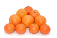 Orangen und Mandarinen Stockfotografie