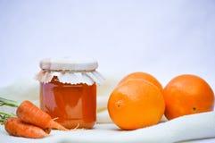 Orangen- und Marmeladenstau Stockbild