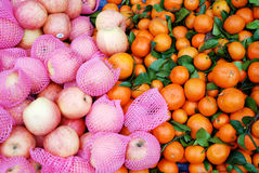 Orangen und oninons Stockbild