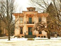 Orangen- und Pfirsichhaus Stockbilder