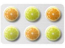 Orangen- und Zitronemedizin Stockfotos