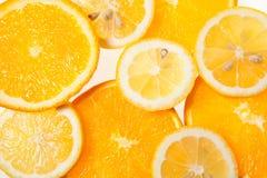 Orangen- und Zitronenscheiben Lizenzfreie Stockfotografie