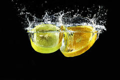 Orangen- und Zitronenspritzen Stockbilder