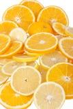 Orangen- und Zitronescheiben Lizenzfreies Stockfoto