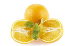 Orangen verzierten Zitroneminze stockbilder