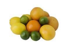 Orangen, Zitronen und Kalk Lizenzfreie Stockfotos