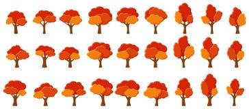 Orangenbäume des Karikaturgartens stock abbildung