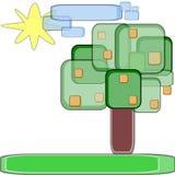 Orangenbaum vektor abbildung
