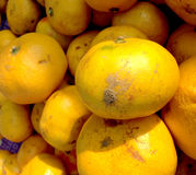 Orangenfruchthintergrund Stockfoto