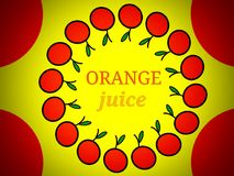 Orangensaft Aufkleber-Logodesign Stockfotos