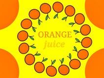 Orangensaft Aufkleber-Logodesign Lizenzfreies Stockbild