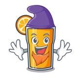 Orangensaft-Charakterkarikatur der Elfe Stockfotos