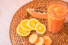 Orangensaft des Vitamins Stockfoto