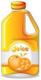 Orangensaft in einer Gallone stock abbildung