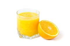Orangensaft getrennt stockfotografie