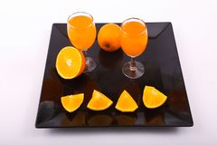 Orangensaft im Glas stockfoto