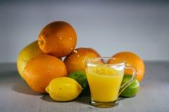 Orangensaft, Saft, orange Stockbild