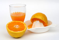 Orangensaft-Set Lizenzfreies Stockfoto