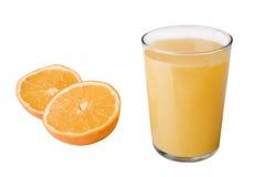 Orangensaft und Orange stockbild