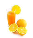 Orangensaft und Scheibe Stockbild