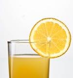 Orangensaftabschluß oben Lizenzfreie Stockfotografie