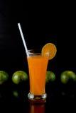 Orangensaftglas Lizenzfreies Stockfoto