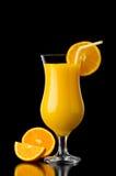 Orangensaftreflexion Stockbild